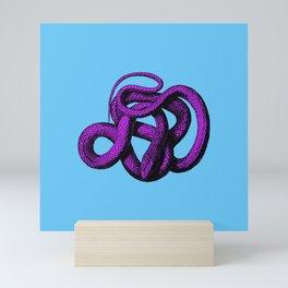Snek 4 Snake Purple Blue Mini Art Print