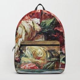 Auguste Renoir - Discarded roses Backpack