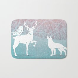 Winter In The White Woods Bath Mat