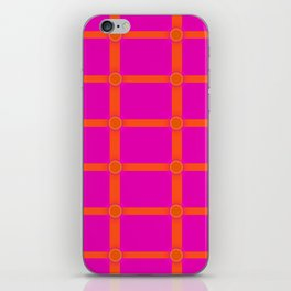 Alium 3 - Delayed Color Contrast Optical Illusion Grid iPhone Skin