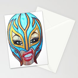 Lucha Libre Lady Stationery Cards