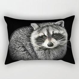 A Gentle Raccoon Rectangular Pillow