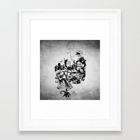 jack skellington Framed Art Prints featuring Jack Skellington by bimorecreative