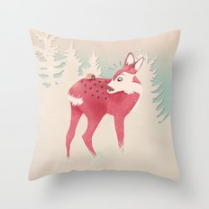 Oh deer, what the bug?! Throw Pillow