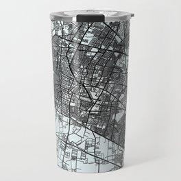 León, Mexico, White, City, Map Travel Mug