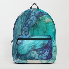 Under the Sea in alcohol inks Backpack