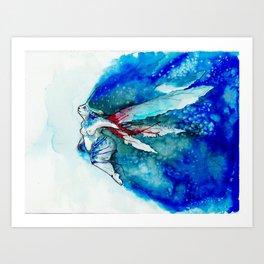 A Blue Fairy Art Print