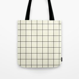 simple grid Tote Bag