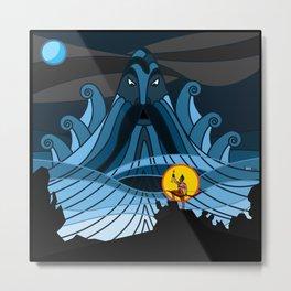 Ocean God Metal Print