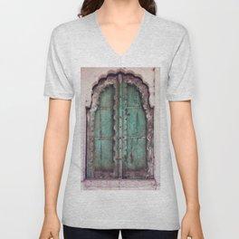 Doors Of Rajasthan Unisex V-Neck