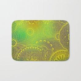 transparent gold zen pattern green gradient Bath Mat