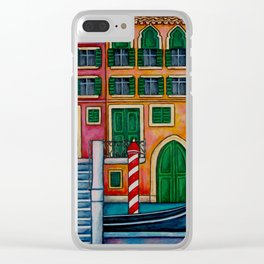 Colours of Venice Clear iPhone Case
