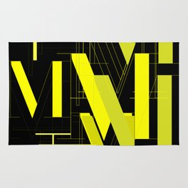 Typography: Didot M and Adequate Light T Rug