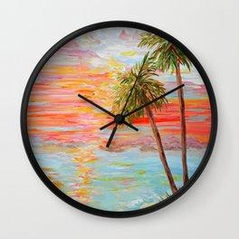 California Coast Sunset Wall Clock
