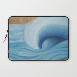 Wooden Wave Scape Laptop Sleeve