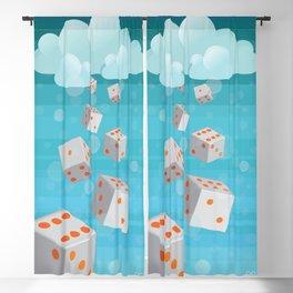 Raining Dice Blackout Curtain