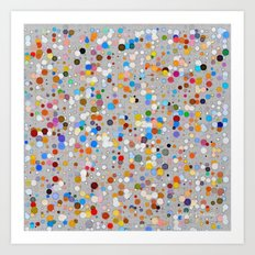 Splash dots Art Print