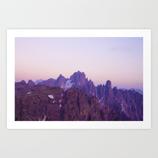 Mountains of Violet Art Print