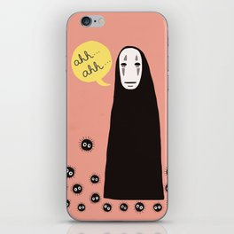 Spirited Away No Face Ahh..Ahh... iPhone Skin