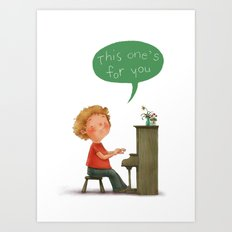 Little Pianist Art Print