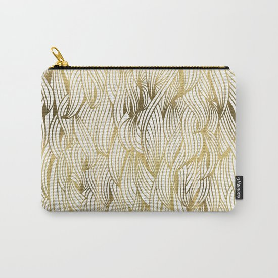Golden Waves Carry-All Pouch