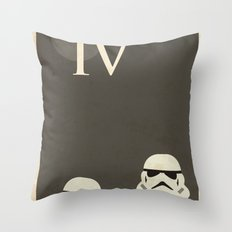 Star Wars Minimal Movie Poster Throw Pillow