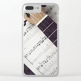 happy strings {ukulele Clear iPhone Case