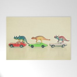 Dinosaurs Ride Cars Welcome Mat