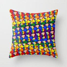 LGBTQ Rainbow Lips Throw Pillow