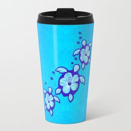 3 Blue Honu Turtles Travel Mug