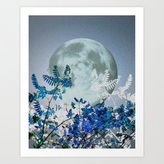 Super Moon v2 - Blue #buyart Art Print
