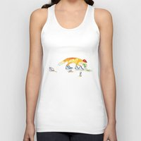 drunk Tank Tops featuring Drunk Fox by Jesse Robinson Williams