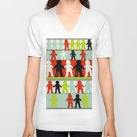 equality V-neck T-shirts featuring Equality by Hilka Zimmerman
