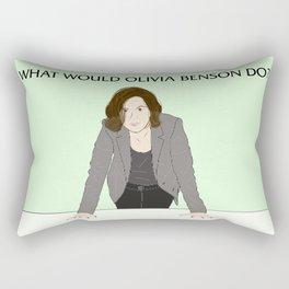 What Would Olivia Benson Do? Rectangular Pillow