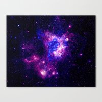 nebula Canvas Prints featuring nebulA. by 2sweet4words Designs