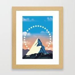 Movie Mountain Framed Art Print