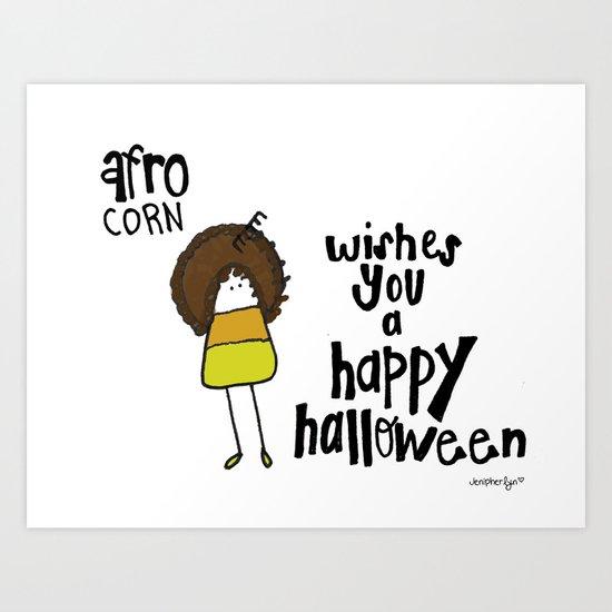 Afro Corn Art Print