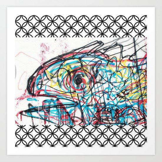 Eye 2 colour Art Print