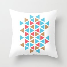 Triangle/wood Throw Pillow