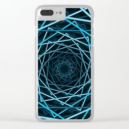 Optical Illusion Of Squares Clear iPhone Case