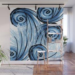 The Swirlz: Blues Wall Mural