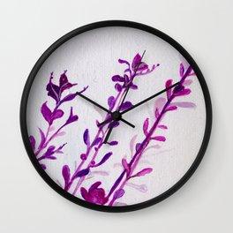 Pink Stems Wall Clock