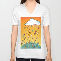 cloud V-neck T-shirts featuring Cloud by R.E.L