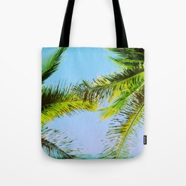 Palm Trees Tropical Photography Tote Bag