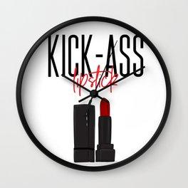 Kick ass lipstick Wall Clock