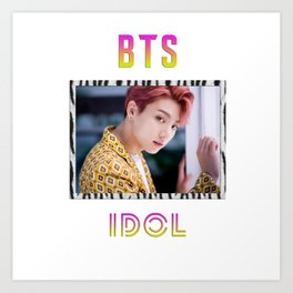 BTS Song IDOL Design - Jungkook Art Print