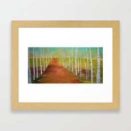 Quirky Birch Framed Art Print