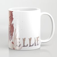 ellie goulding Mugs featuring Ellie by Natalie Lucht