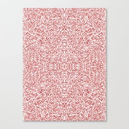 Colouring for Mindlessness Kaleidoscopic in magenta Canvas Print