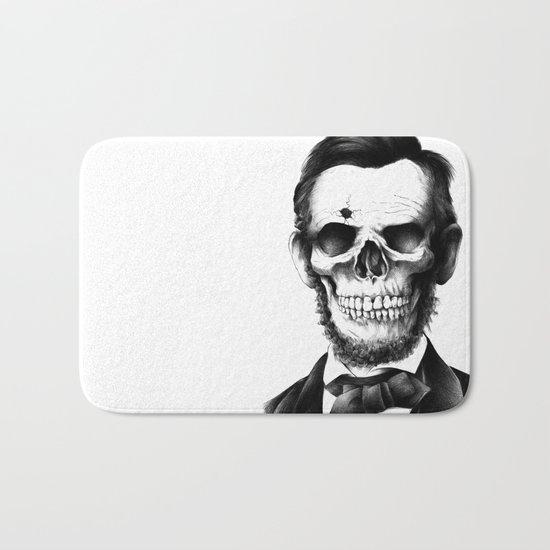 Lincoln Skull Bath Mat